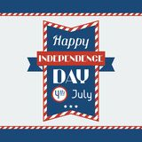 United States of America Independence Day greeting Royalty Free Stock Image