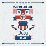 United States of America Independence Day greeting Royalty Free Stock Photography