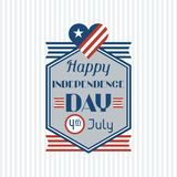 United States of America Independence Day greeting Royalty Free Stock Photos