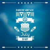 United States of America Independence Day greeting Stock Image
