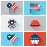 United States of America Independence Day icon set Stock Photos