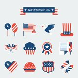 United States of America Independence Day icon set Royalty Free Stock Image