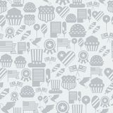 United States of America Independence Day seamless. Pattern Royalty Free Stock Photography