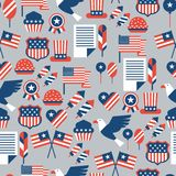 United States of America Independence Day seamless. Pattern Stock Illustration