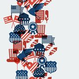 United States of America Independence Day seamless. Pattern Royalty Free Stock Images