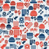 United States of America Independence Day seamless. Pattern Stock Image