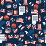 United States of America Independence Day seamless. Pattern Royalty Free Stock Image