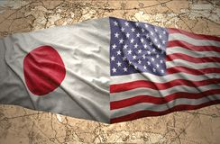 United States of America and Japan Stock Images