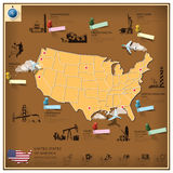 United States Of America Landmark Business And Travel Infographi Royalty Free Stock Photography