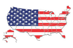 United States of America map, 3D rendering Stock Photo