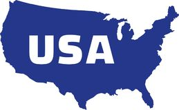 United States of America map with name. Vector stock illustration