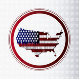 United states of america map Royalty Free Stock Image