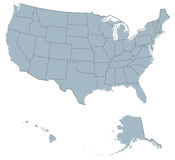 United States of America map Stock Photo