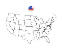 United States Map Abstract Vector Background Stock Vector ...