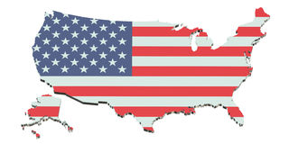 United States of America map Royalty Free Stock Photos