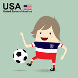 United states of america national football team, businessman hap Royalty Free Stock Photo