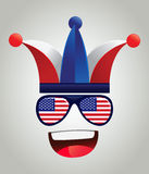 United States of America National Supporter Character Stock Images