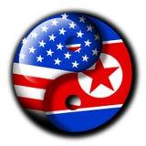 North Korea and USA Partnership Stock Photos