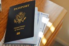 United States of America passport Stock Photos