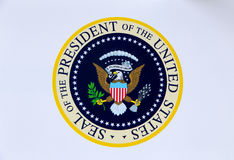 United States of America Presidential Seal. Presidential Seal of the United States of America Royalty Free Stock Image