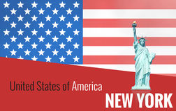 United States of America Red Style Design Stock Photo