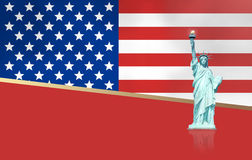 United States of America Red Style Design Stock Image