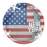 United States of America Round Stock Images