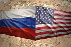 United States of America and Russia Royalty Free Stock Photos