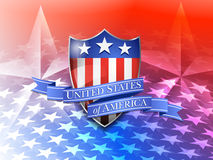 United States of America Shield on a Stars Background Royalty Free Stock Photography