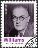 UNITED STATES OF AMERICA - 2012: shows William Carlos Williams 1883-1963, American poet, author, series Nobel Laureate in Litera Royalty Free Stock Images