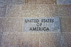 United States of America sign on the Department of Justice stock image
