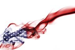 America, usa, national smoke flag. United States of America smoke flag isolated on black background Stock Images