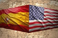 United States of America and Spain Stock Photo