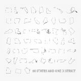 United States of America 50 states and 1 federal district. US st Stock Image