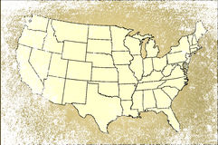 United States of America States Map Stock Photography