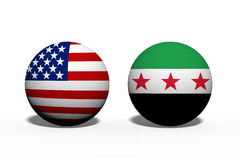 The United States of America and Syria working together Royalty Free Stock Images