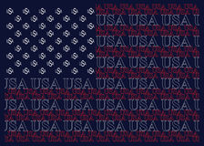United States of America Text Flag Stock Photography