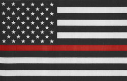 United States of America thin red line flag. With texture Royalty Free Stock Photo