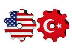 The United States of America and Turkey working together Royalty Free Stock Images