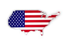 United States of America, USA 3d country. United States of America, USA 3d beautiful country Royalty Free Stock Photos