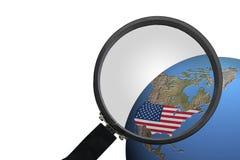 United States, America, USA, flag. United States of America on white background Royalty Free Stock Image