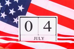 United States of America USA Flag For 4th of July.  Royalty Free Stock Photography