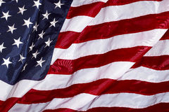 United States of America USA Flag in the Wind Royalty Free Stock Photos