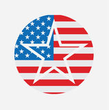 United States Of America USA National Star Flag. United States Emblem  Icon Card Logo Concept Sign Vector Stock Royalty Free Stock Photos