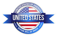 United States of America, USA seal Royalty Free Stock Photo