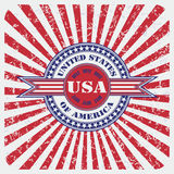 United States of America USA vintage label Stock Images