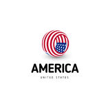 United states of America vector unusual abstract circle sign. USA isolated logo on white background emblem. Independence Royalty Free Stock Images