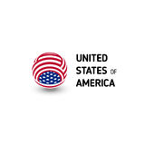 United states of America vector unusual abstract circle sign. USA isolated logo on white background emblem. Independence Royalty Free Stock Photos