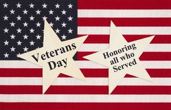 United States of America Veterans Day message stock photo