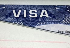 United States of America visa page Royalty Free Stock Photos